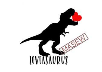 Valentine SVG Dinosaur Cut File, Loveasaurus SVG T Rex, Heart Crusher Breaker, Dino Hearts SVG, Love-saurus, Instant Download, Svg for Boys EPS SVG PNG DXF digital download t shirt design template