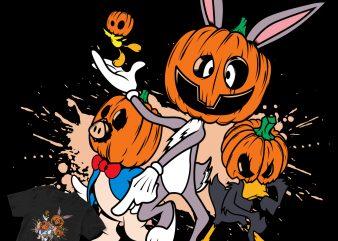 cartoon design disney halloween commercial use t-shirt design