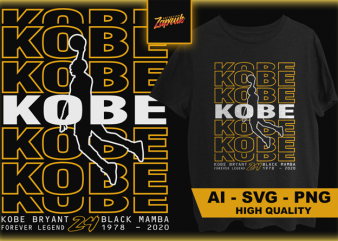 RIP Kobe Bryant #3- t shirt Design Exclusive Vector kobe png, kobe ai, kobe svg, black mamba, 24
