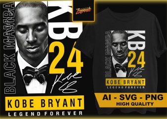 Kobe Bryant #7 -Tshirt designAI SVG PNG Commercial use kobe bryant and Gigi, Black mamba