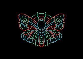 dead moth tshirt design