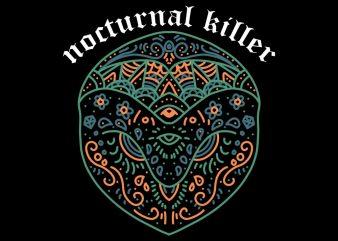nocturnal killer tshirt design