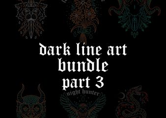 dark line art bundle part3