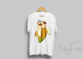 Banana Puppy Puppycorn buy t shirt design artwork