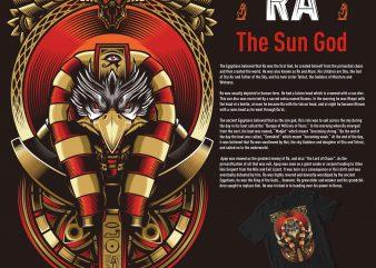RA THE SUN GOD egypt illustration t shirt design for download