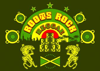 REGGAE t-shirt design for commercial use