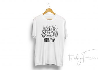 Shake well before use (brain) Tshirt Design