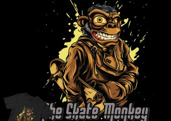 the saket monkey t-shirt design for commercial use