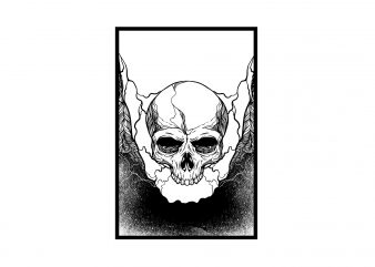 skull tattoo t-shirt design