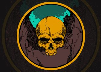 Skull artistic t-shirt design