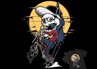 SKULL BMX STREET WEAR buy t shirt design for commercial use