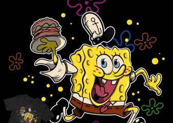 spongebob sqarepants crabby patty t shirt design for purchase