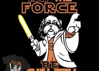 SHIH TZU dog starwars t shirt design to buy