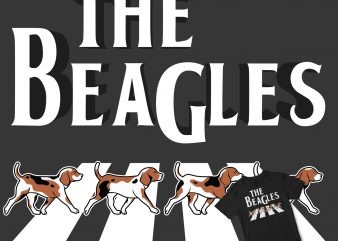 The Beagles Dog cartoon t shirt design template