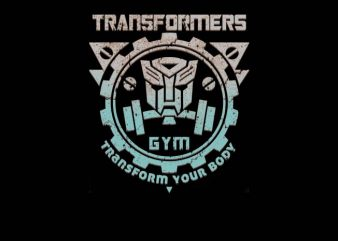 Transformers Gym shirt design png