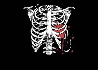 Heart Bone t shirt design for purchase