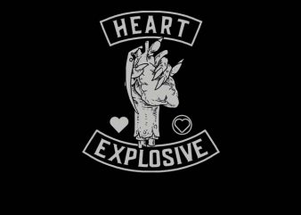 Heart Explosive t shirt design to buy