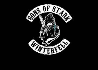 Sons of Stark graphic t-shirt design