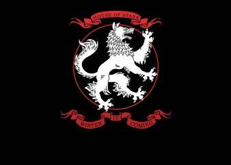 House of Stark t-shirt design for commercial use