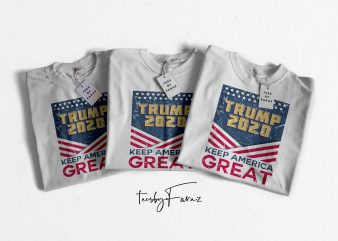 Trump 2020 Keep America Great Brand New Design personal use buy t shirt design artwork