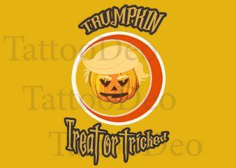 Donald Trump with Halloween t-shirt design