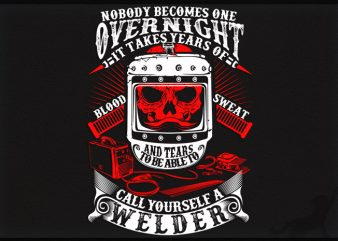 Welder graphic t-shirt design