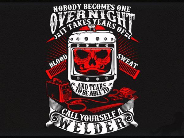 Welder graphic t-shirt design