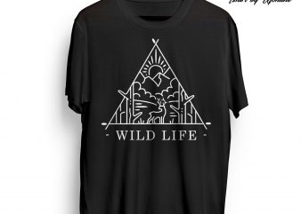 Wild Life buy t shirt design for commercial use