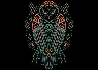 wise owl tshirt design