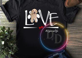 Love Dog mom life T shirt valentine dog mom t-shirt design for sale