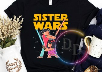 Sister Wars Funny Sister bestie lovely galaxy wars t shirt design for sale