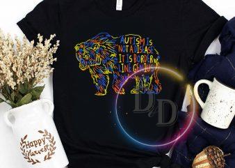 Autism Is Not a disease It is border line genius Bear autism T shirt t shirt design template