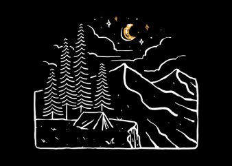 Night Cliffs t shirt design for purchase