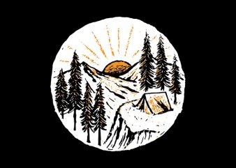 Sunrise Camp t shirt design to buy