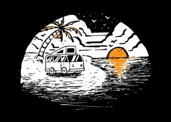 Van Beach t shirt design to buy