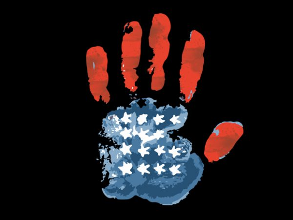 handprint usa flag buy t shirt design