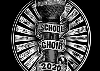CHOIR commercial use t-shirt design