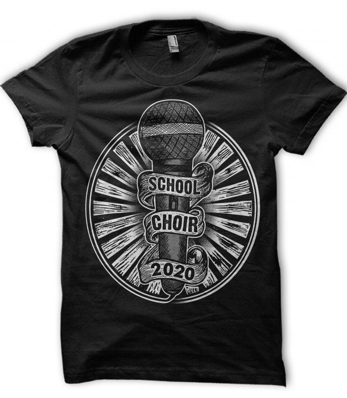 CHOIR commercial use t-shirt design