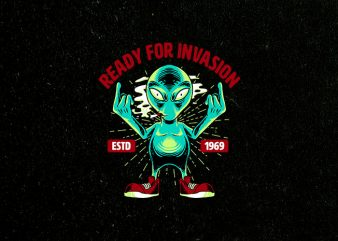 cool invasion t-shirt design for sale