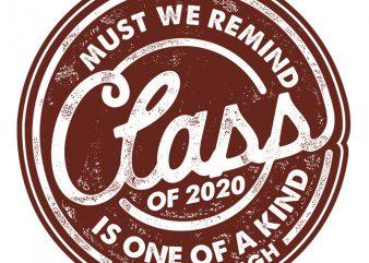 Class of 2020 graphic t-shirt design
