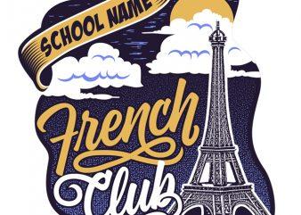 French club t-shirt design