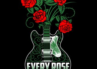 Every Rose Has It's Thorn print ready t shirt design