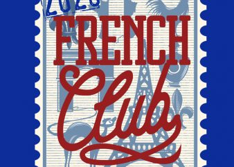 French Club (3) shirt design png