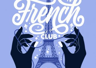 French Club (4) print ready t shirt design