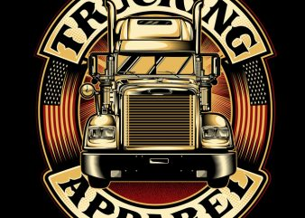 TRUCKING APPAREL buy t shirt design for commercial use