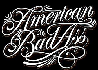 American BadAss buy t shirt design