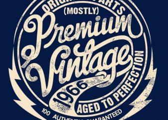 PREMIUM VINTAGE T-SHIRT 2 t-shirt design for commercial use