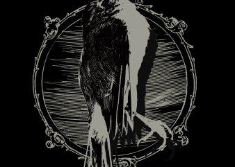 Dead Birds #2 print ready t shirt design