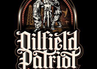 Oilfield Patriot graphic t-shirt design