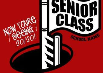 Senior Class 2020 (D) graphic t-shirt design